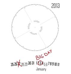 Round calendar 2013 vector