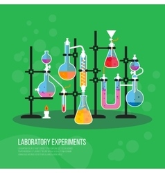 Science or chemistry lab or laboratory vector image