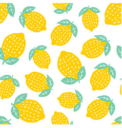 seamless pattern with cute lemon vector image
