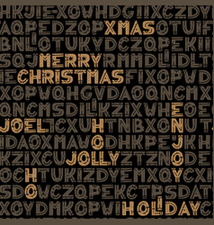 seamless typographic christmas background design vector image