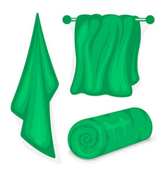 set of bath towels vector image