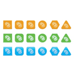 set of palette icons vector image