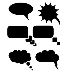 speech bubbles dreams black and white vector image