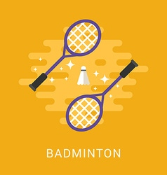 sport concept badminton flat style vector image