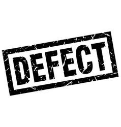 Square grunge black defect stamp vector