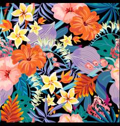 summer natural vintage exotic seamless vector image