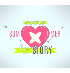 surfing summer lettering design Cool vector image