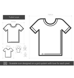 T-shirt line icon vector