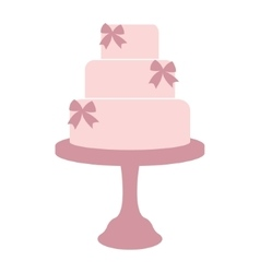 Vintage wedding cake vector