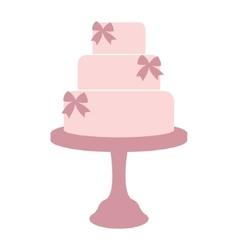 Vintage wedding cake vector image