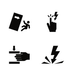 Warning signs danger simple related icons vector