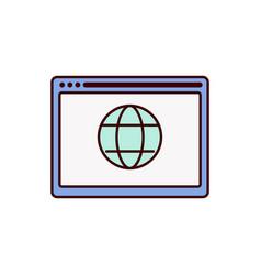 web icon internet vector image