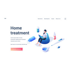 Website template promoting information about home vector