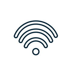 wifi signal internet things line icon vector image