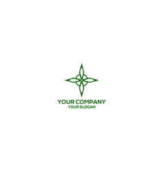 Witchs knot cannabies protect logo design vector