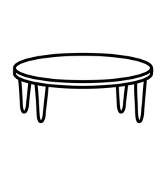 wooden table furniture decoration icon thick line vector image