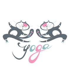 yoga position vector image