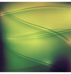 abstract green background with waves vector image vector image