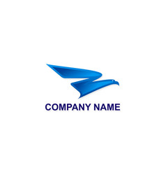 fly eagle abstract company logo vector image vector image