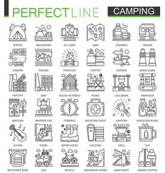 summer outdoor camping concept symbols perfect vector image vector image