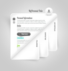 Template elements Personal VCard template vector image vector image