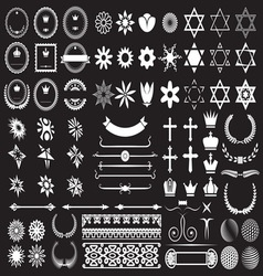Big set of design elements resize vector image
