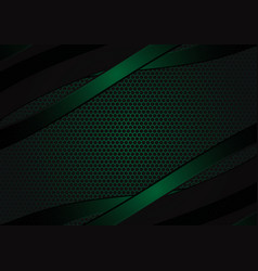 black and green geometric abstract background vector image vector image