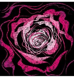 grunge rose illustration vector image vector image