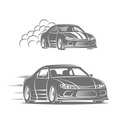 Sport car logo design Street racing vector image