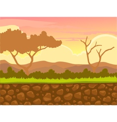 afternoon view with landscape background vector image vector image