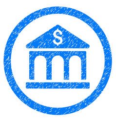 bank building rounded grainy icon vector image vector image
