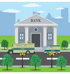 Bank building vector image vector image