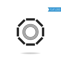 Business technical and engineering logo for vector image vector image