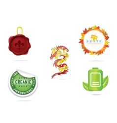 creative nature and eco sign set vector image vector image