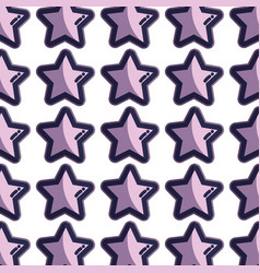 cute light stars in the sky background vector image