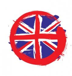 England circle flag vector image vector image