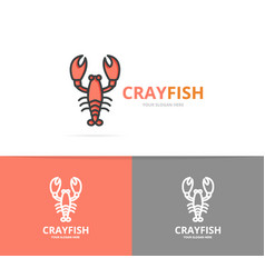 Lobster and cancer logo design template vector