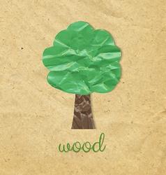 Paper Wood Symbol vector image