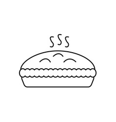 pie with meat line icon sign vector image