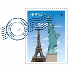 postmark from France vector image vector image