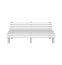 Single white modern Bench vector image