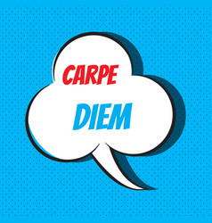 Carpe diem motivational and inspirational quote vector