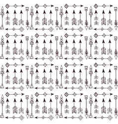 Doodle abstract lines seamless pattern vector image