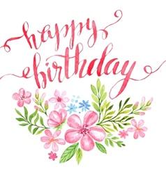 Happy Birthday Hand-drawn card vector image
