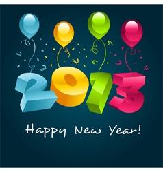 Happy new year 2013 vector