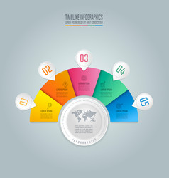 infographic design business concept with 5 vector image vector image