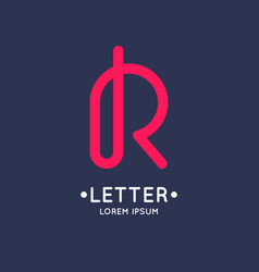modern linear logo and sign the letter r vector image