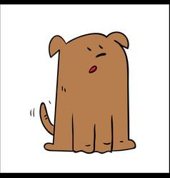 a cartoon dog looking shocked surprised vector image