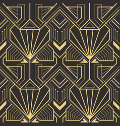 Abstract art deco seamless pattern 25 vector