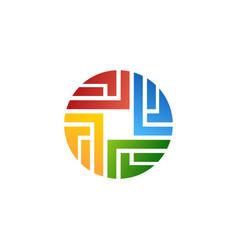 Abstract circle logo symbol icon design vector